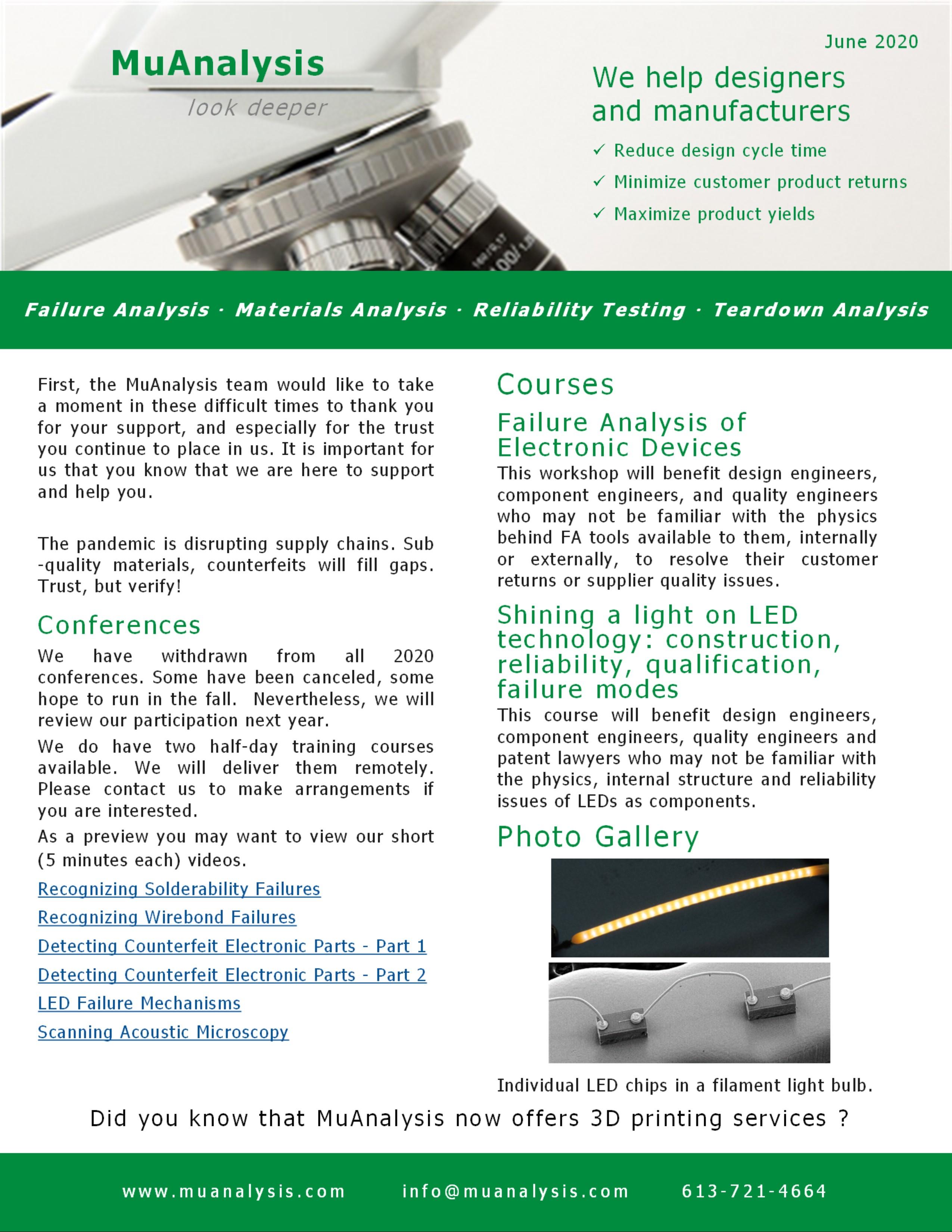 MuAnalysis Newsletter June 2020